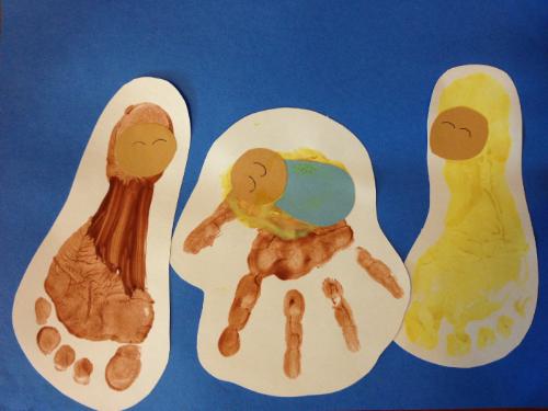 Handprint Baby Jesus