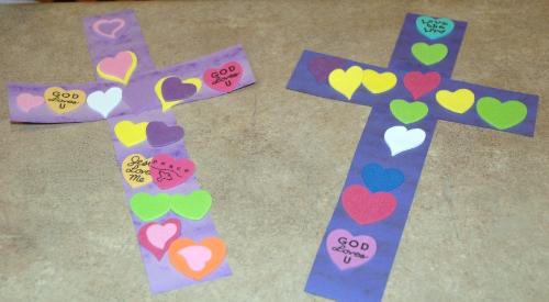 Sticker Heart Cross