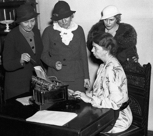 Eleanor Roosevelt with Emma Bugbee