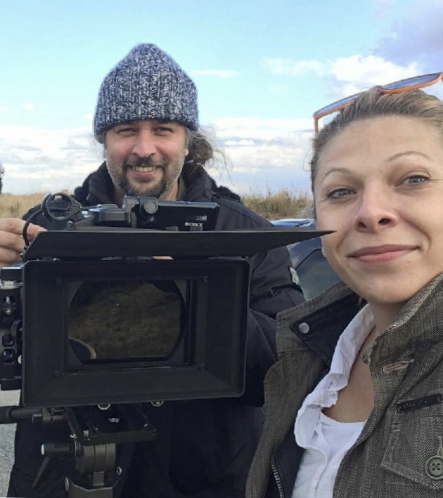 """Producer, Tunde Skovran with DP, Gabor Daniel Szandtner, filming the documentary   """"A Life in Secret""""     in South Africa (July 2018)."""
