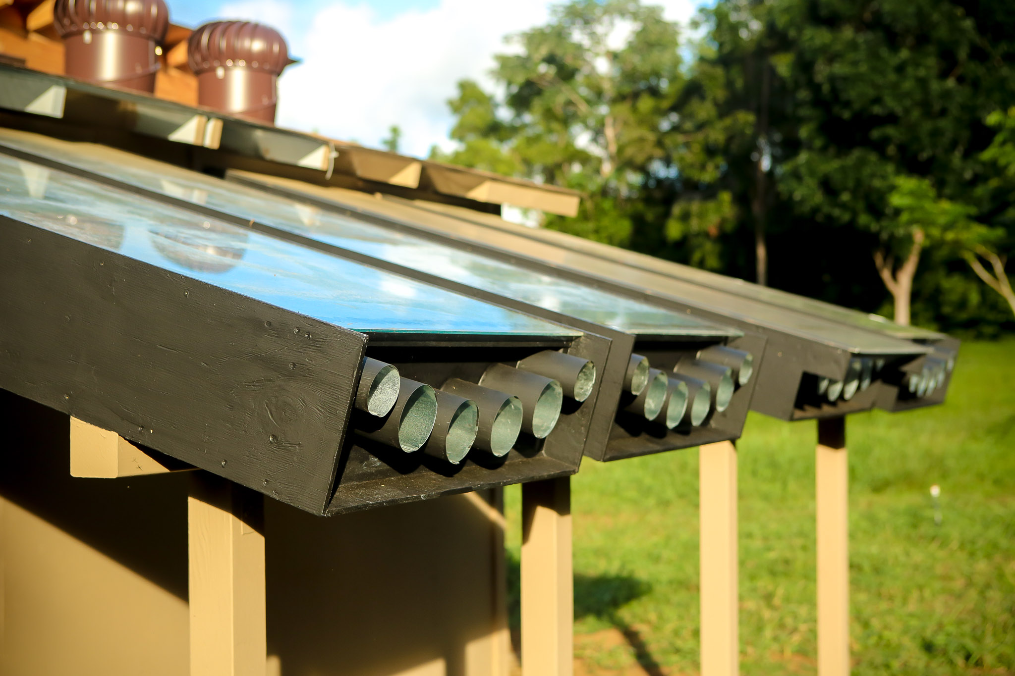 Solar air collectors (solar dehydration facility)