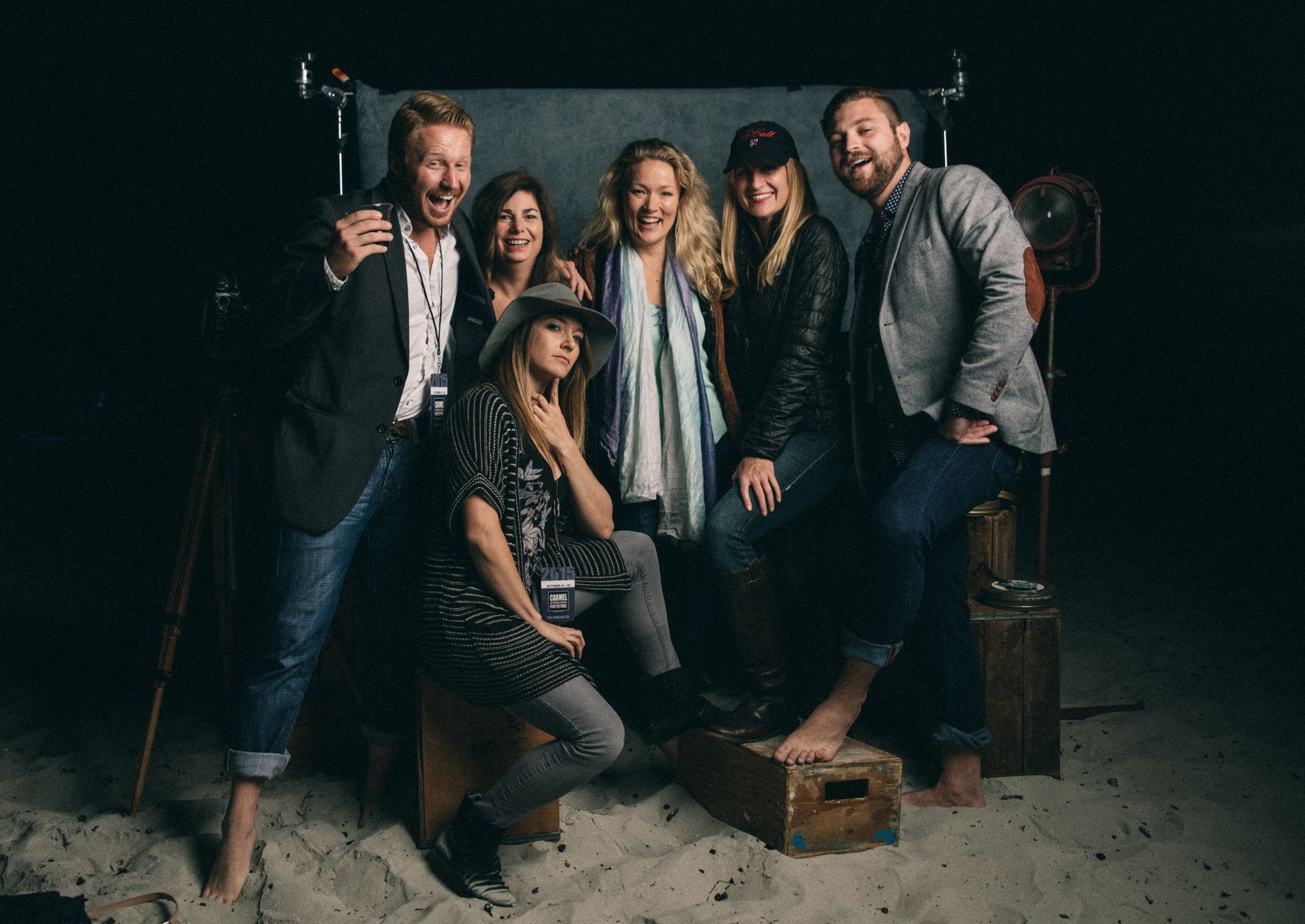 On the Beach with our Judges and Fellow Filmmakers at Carmel International Film Fest. PHOTO CREDIT: Marc Olivier Leblanc.