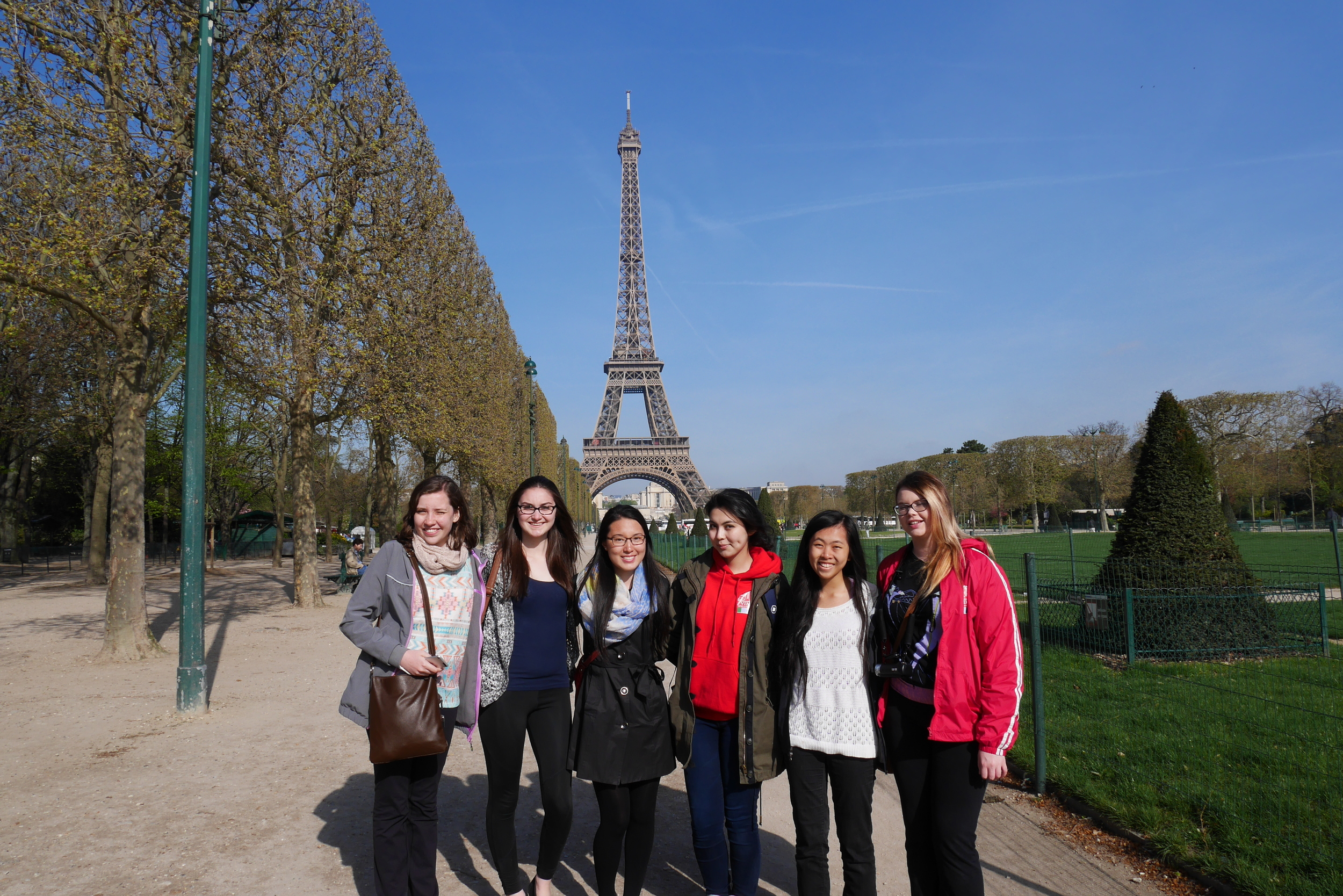 Quon in Paris (Second from Right)