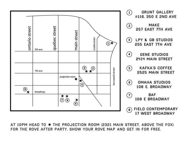 Map of Participating Rove Venues