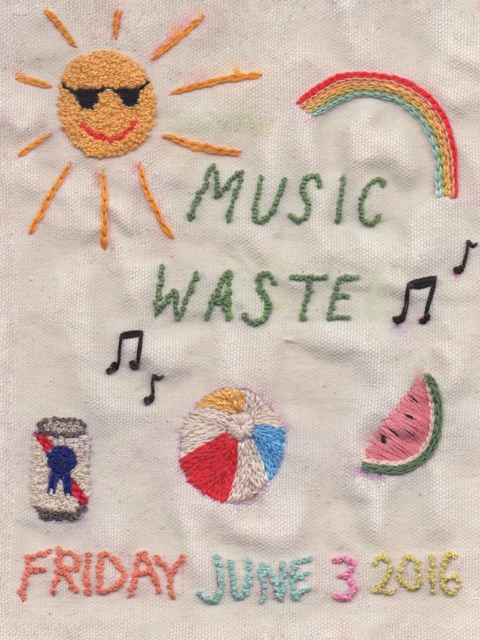 Music Waste poster from  Red Gate Arts Society