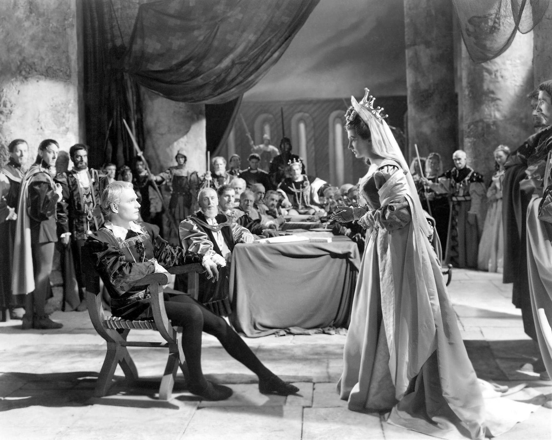 Film still from Olivier's  Hamlet