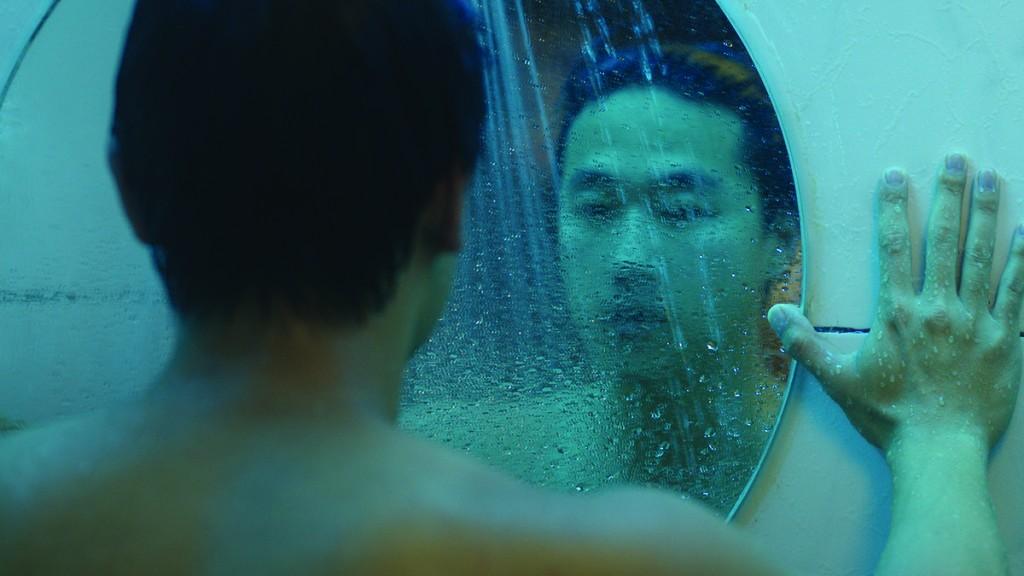 Film still from Andrew Ahn's  Spa Night