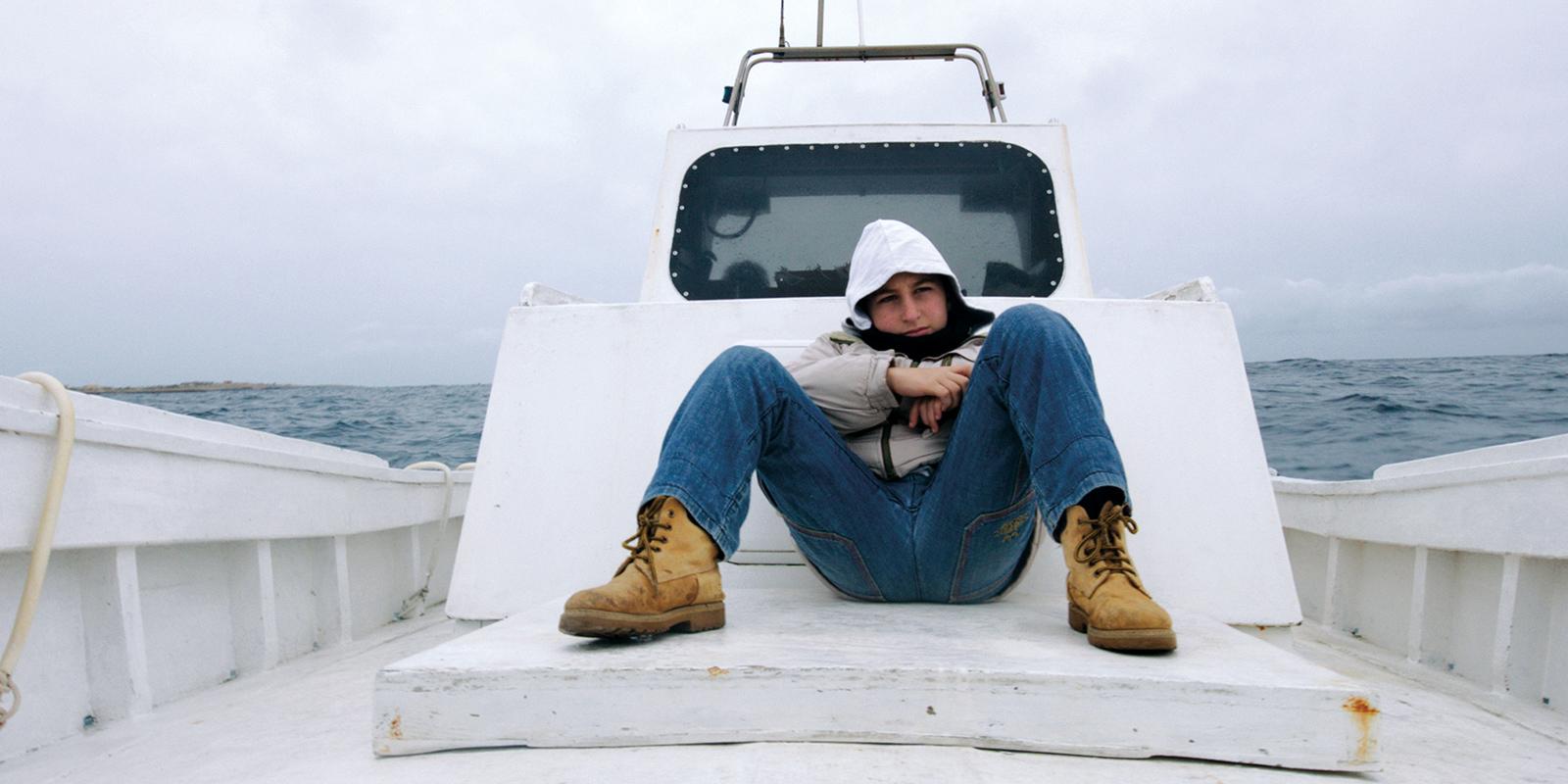 Film still from Rosi's  Fire at Sea