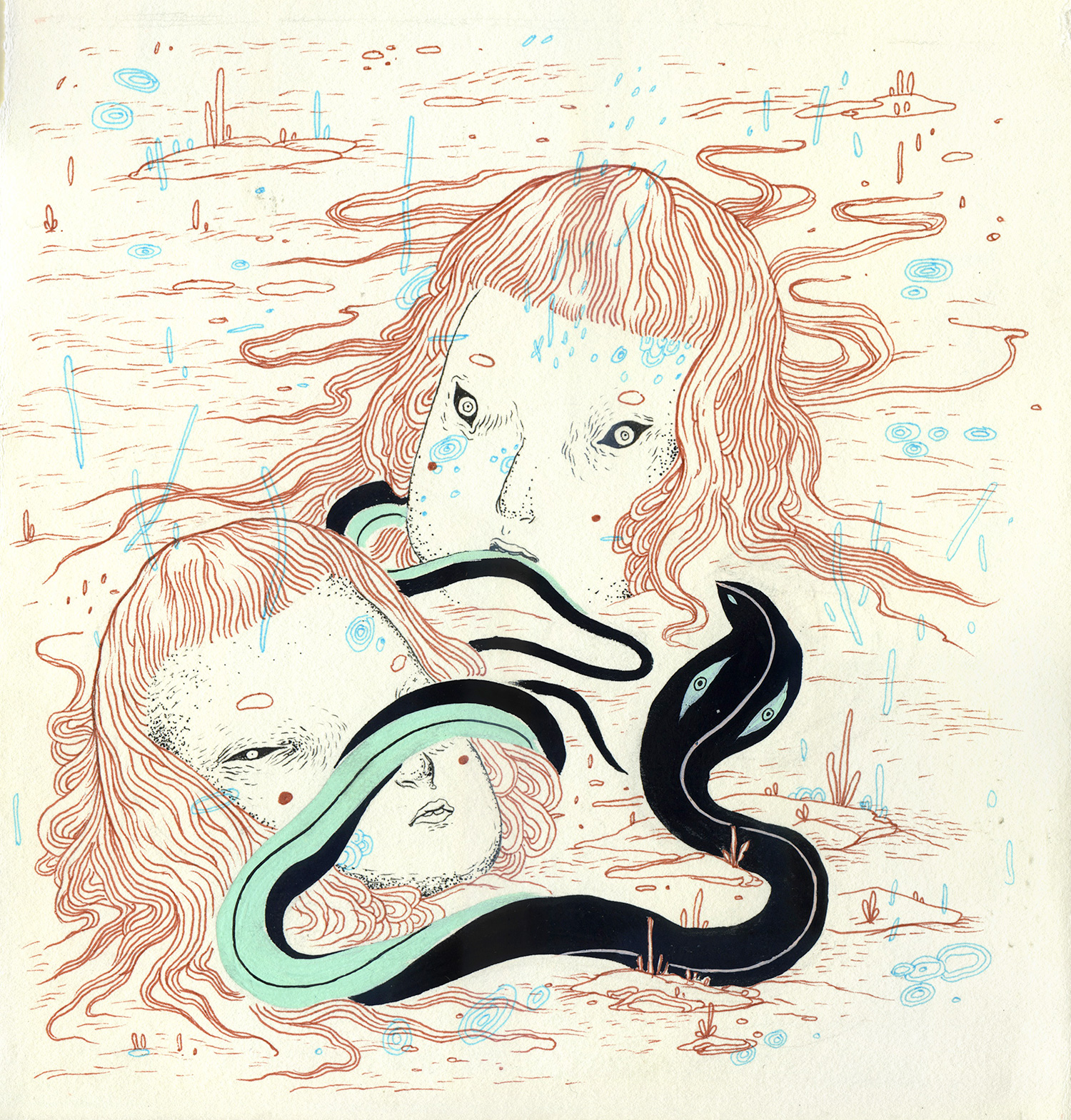 """""""Serpent Charmers"""" by Nomi Chi"""