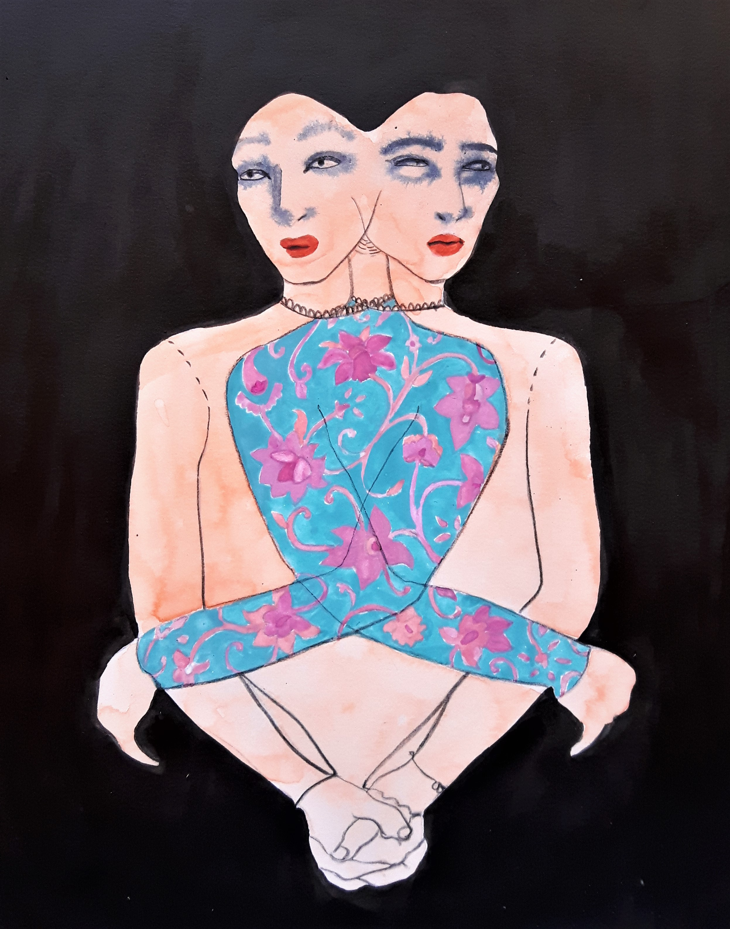 Artwork: Lila & Lenu  by Sara Khan