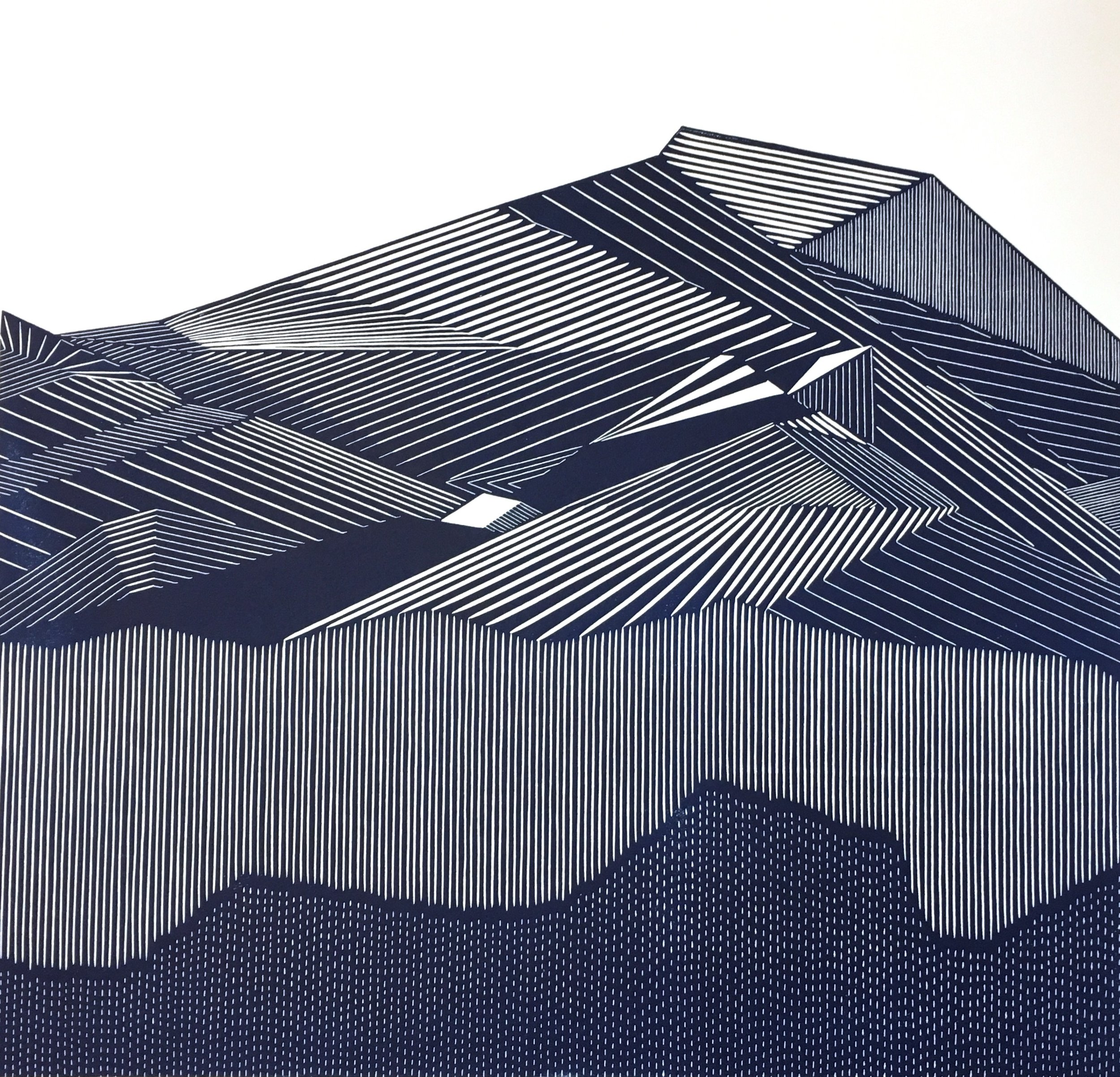 Kari Kristensen,  I Shut My Eyes in Order to See , 2017, linoprint