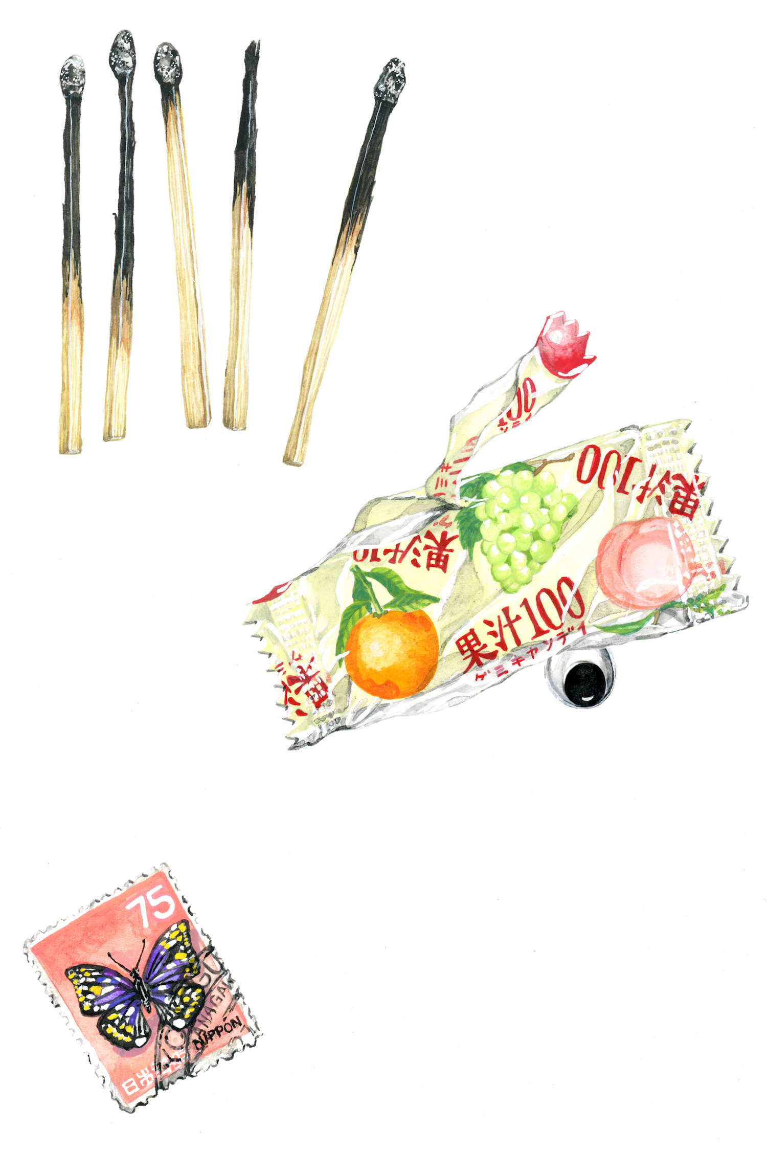 """Janice Wu,  Still Life III , 2017, 9"""" x 12"""", pencil and gouache on paper"""