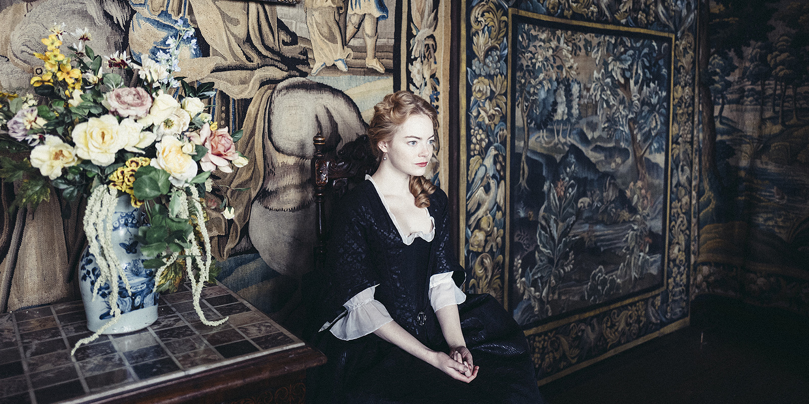The Favourite  film still via Vancouver International Film Festival.