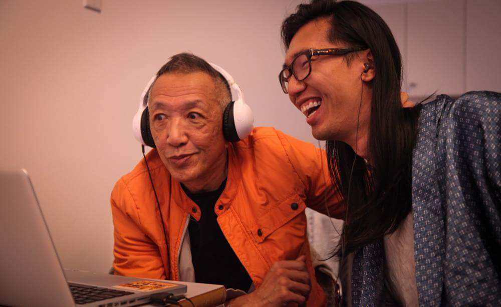 Paul Wong and Tse on the set of  Breaking the Silence.  Photo via Reel Youth.