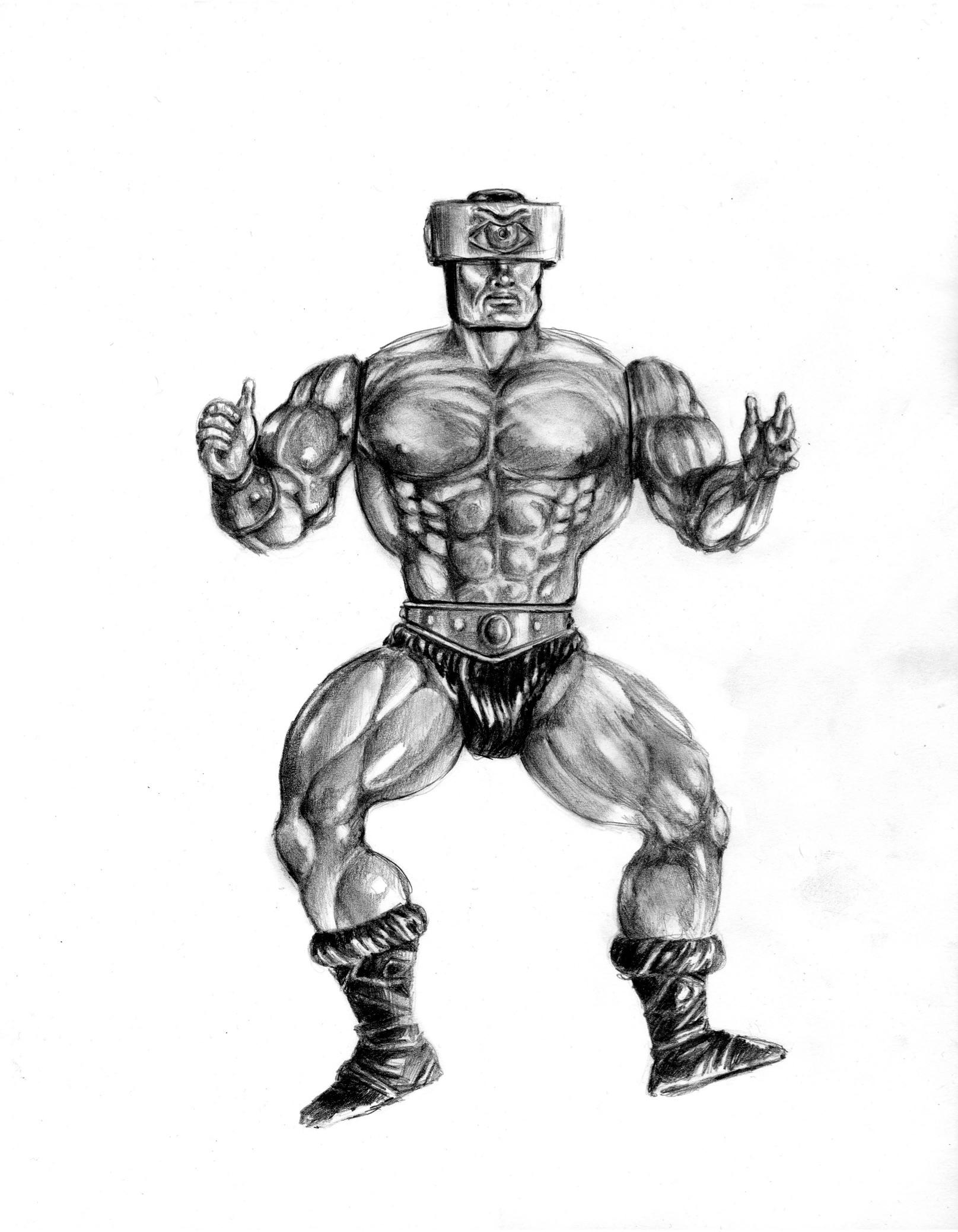 Triclops,  2017. Medium: Pencil on paper
