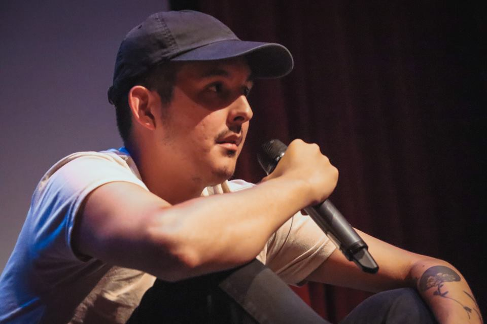 Festival Programmer Justin Ducharme speaks at the 2018 VQFF