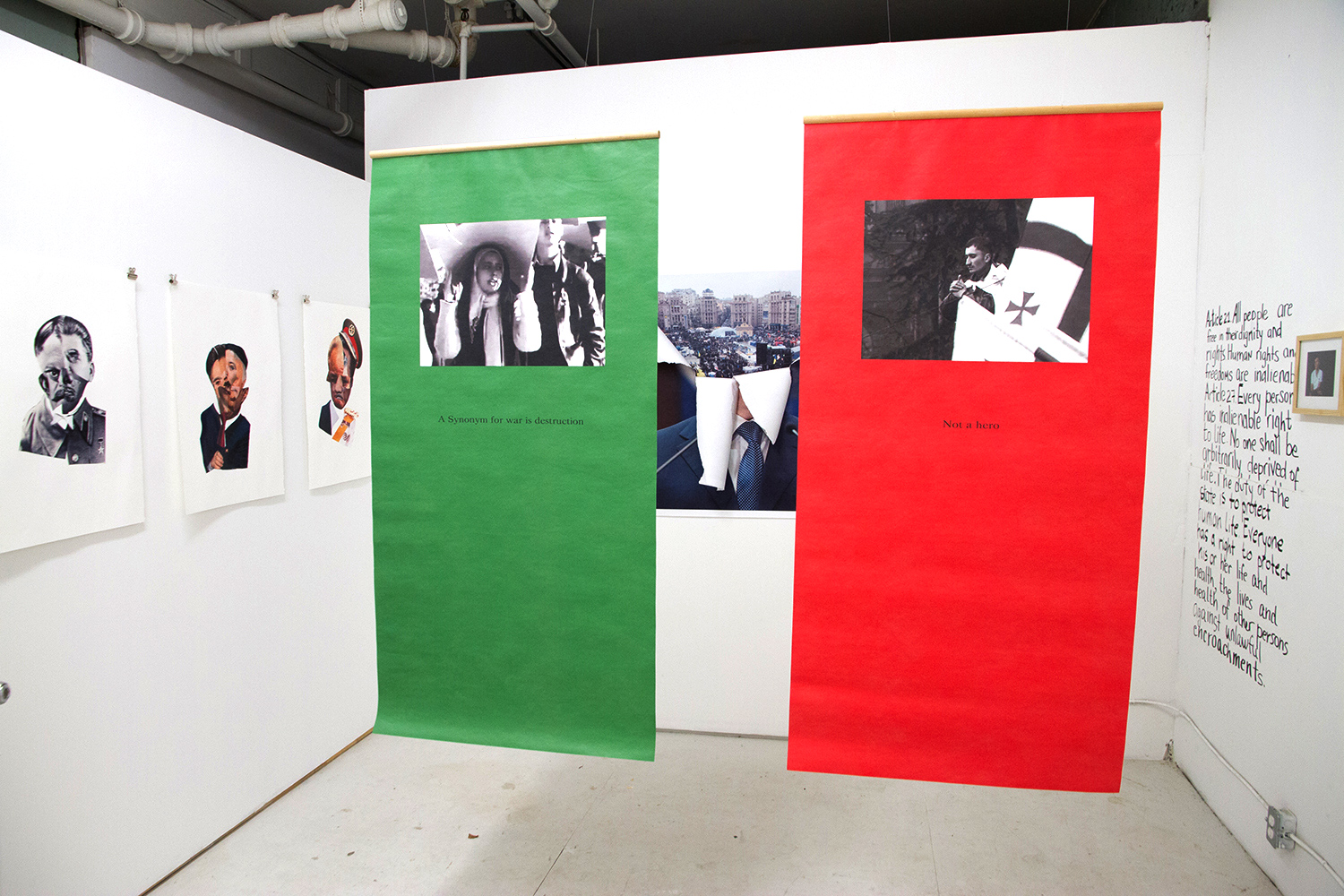 Everything moves, everything passes and there is no end, 2014, installation view