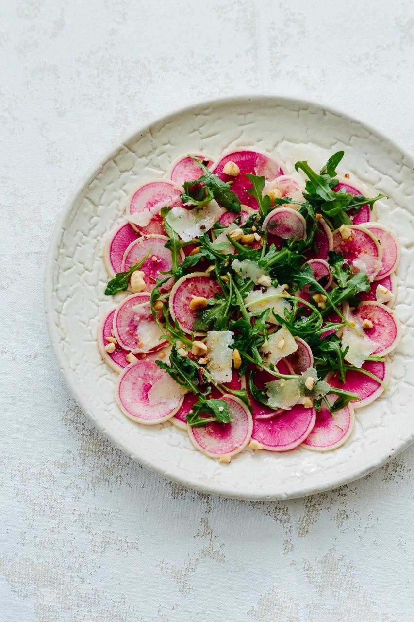 Watermelon radish carpaccio and arugula salad Vy Tran (8 of 11) (853x1280).jpg