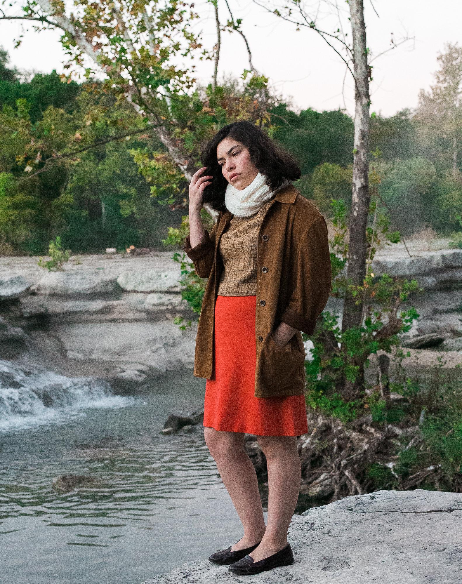 Pieceology-Vintage-1960s-Coral-Wool-Handmade-Skirt-1.jpg