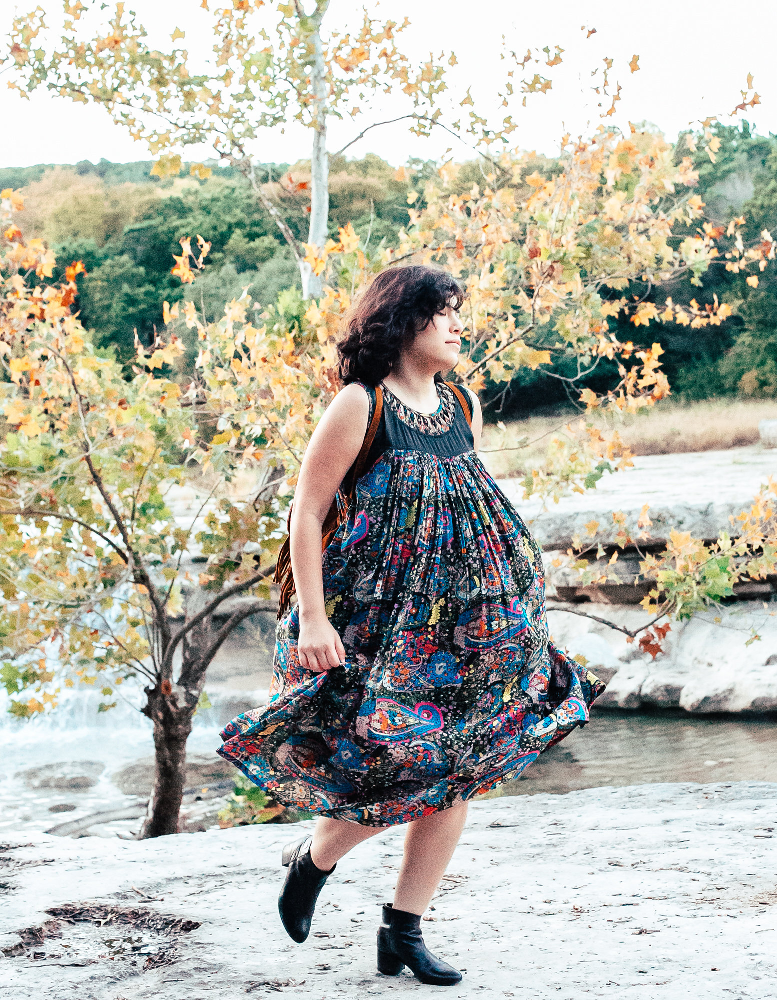 Pieceology-Vintage-1970s-Black-Latticed-Collar-Colorful-Printed-Dress-2.jpg