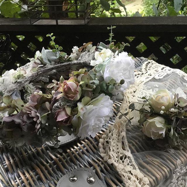 今日San Francisco に旅たちます 花冠 #アーティフィシャル #プリザーブド #フラワー #ウエディング #ブーケ #ブートニア #結婚式 # ハーバリウム #植物 #オーダーメイド #ダズンローゼ #インテリア #artificial #wedding #flower #grass #order # plant #bouquet #bootonia #preserved #dozen roses #interior