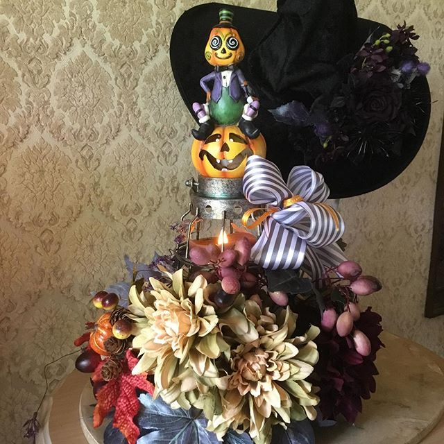 Happy Halloween !  #アーティフィシャル #プリザーブド #フラワー #ウエディング #ブーケ #ブートニア #結婚式 # ハーバリウム #植物 #オーダーメイド #ダズンローゼ #インテリア #artificial #wedding #flower #grass #order # plant #bouquet #bootonia #preserved #dozen roses #interior