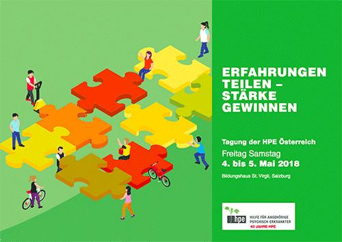 """Cover der Einladungskarte zur Veranstaltung: """"Erfahrungen Teilen - Stärke Gewinnen"""" der HPE Österreich"""