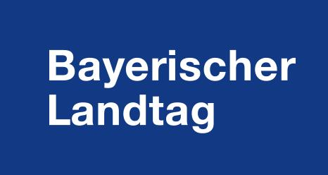 Schriftzug des Bayerischen Landtages