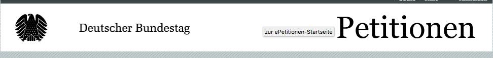 Header der Webseite des Deutschen Bundesstages