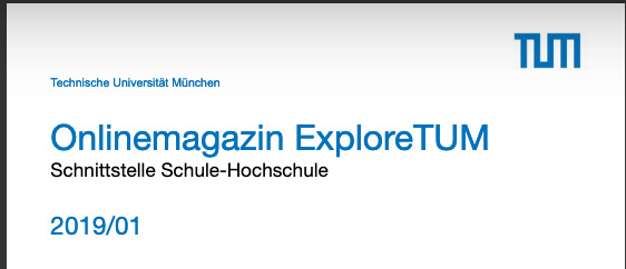 "Online-Mgazin ""ExploreTUM"""