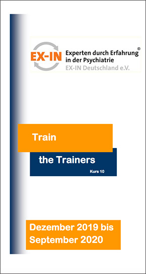 """Vorderseite des EX-IN-Flyers """"Train the Trainers"""""""