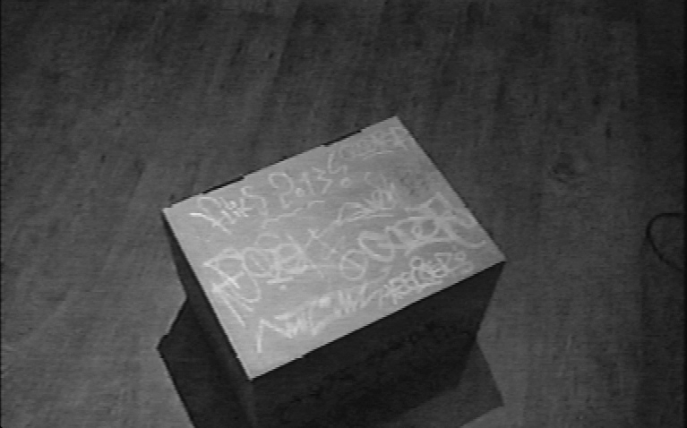 My year (in flix) in a box but above dirt - Video still taken from the Nut City archive tapes.