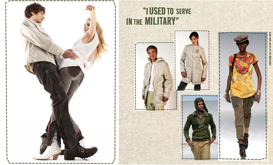 Globe Hope SS 2006 / redifined army wear and vintage fabrics