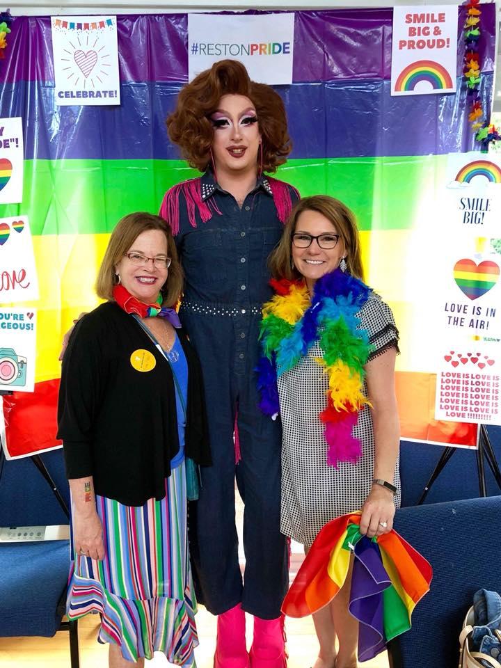 Mama Celeste, Rev. Debra & Mayor Lisa Merkel, Mayor of Herndon