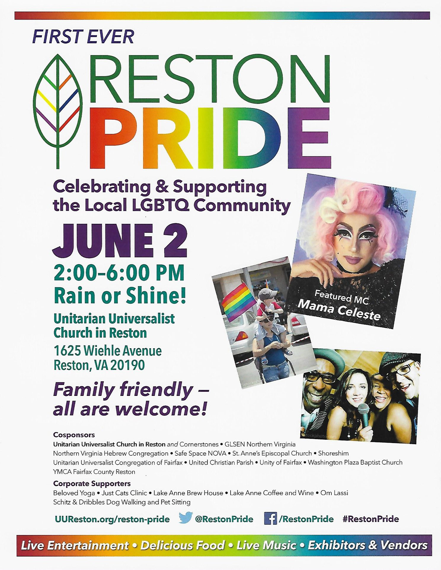The first ever Reston Pride!