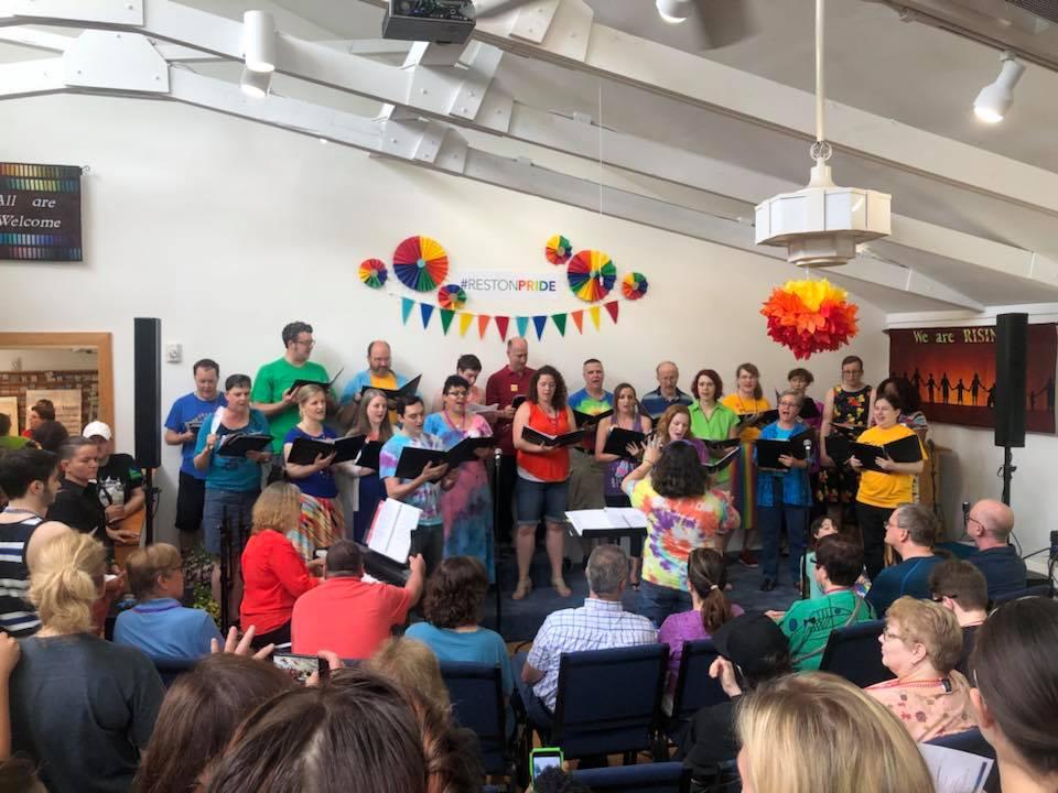 """Our choir sang """"True Colors."""""""