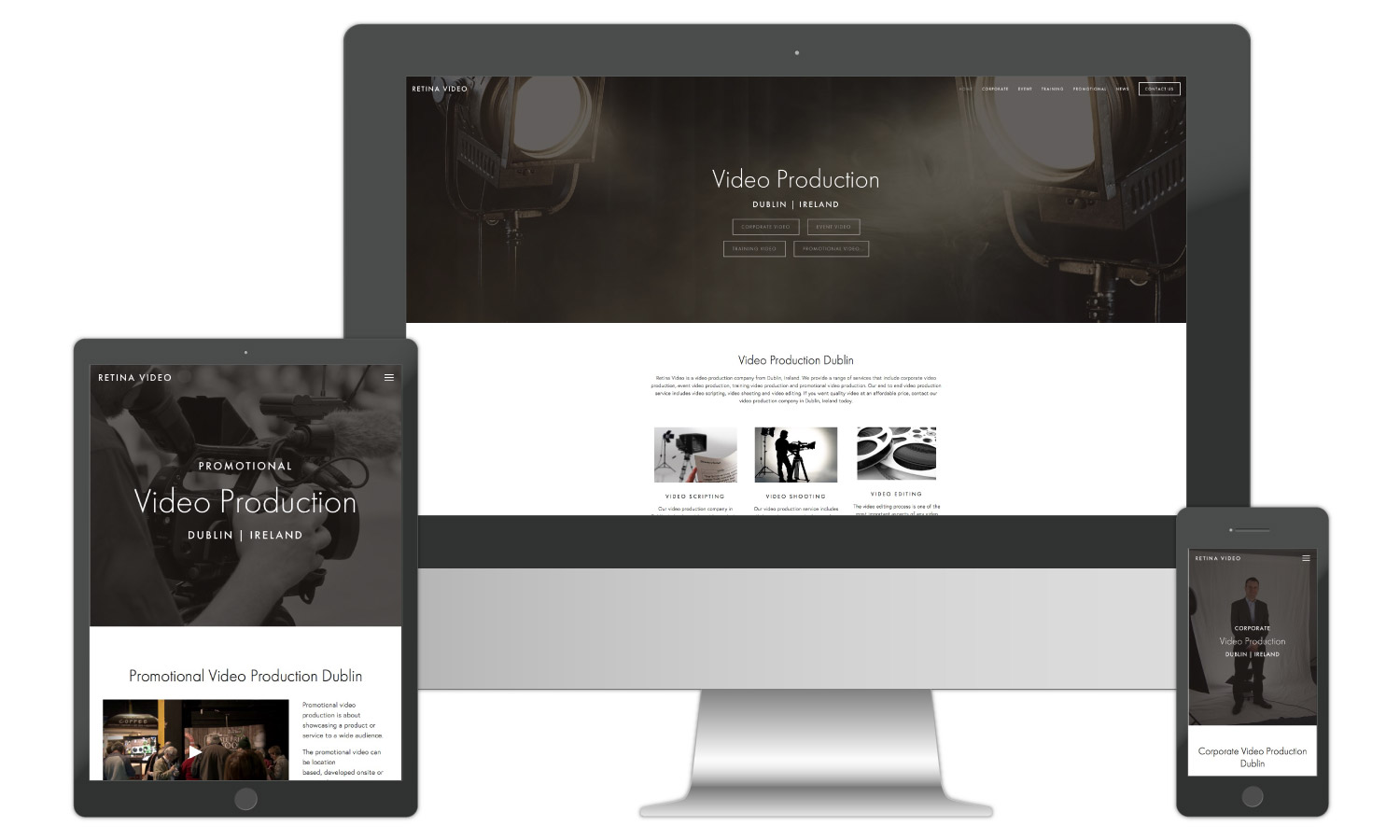 Production Company Website Design