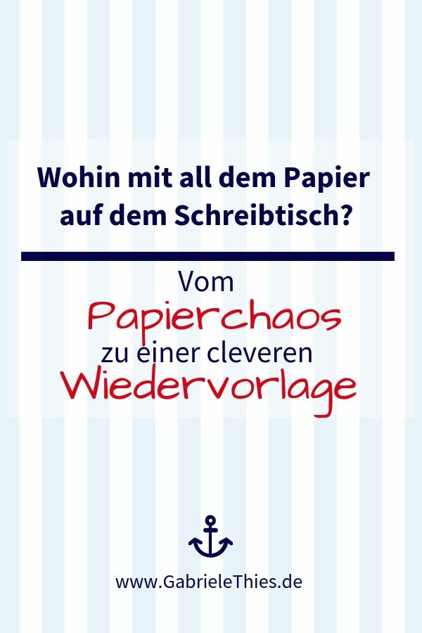 Wiedervorlage statt Papierchaos im Büro