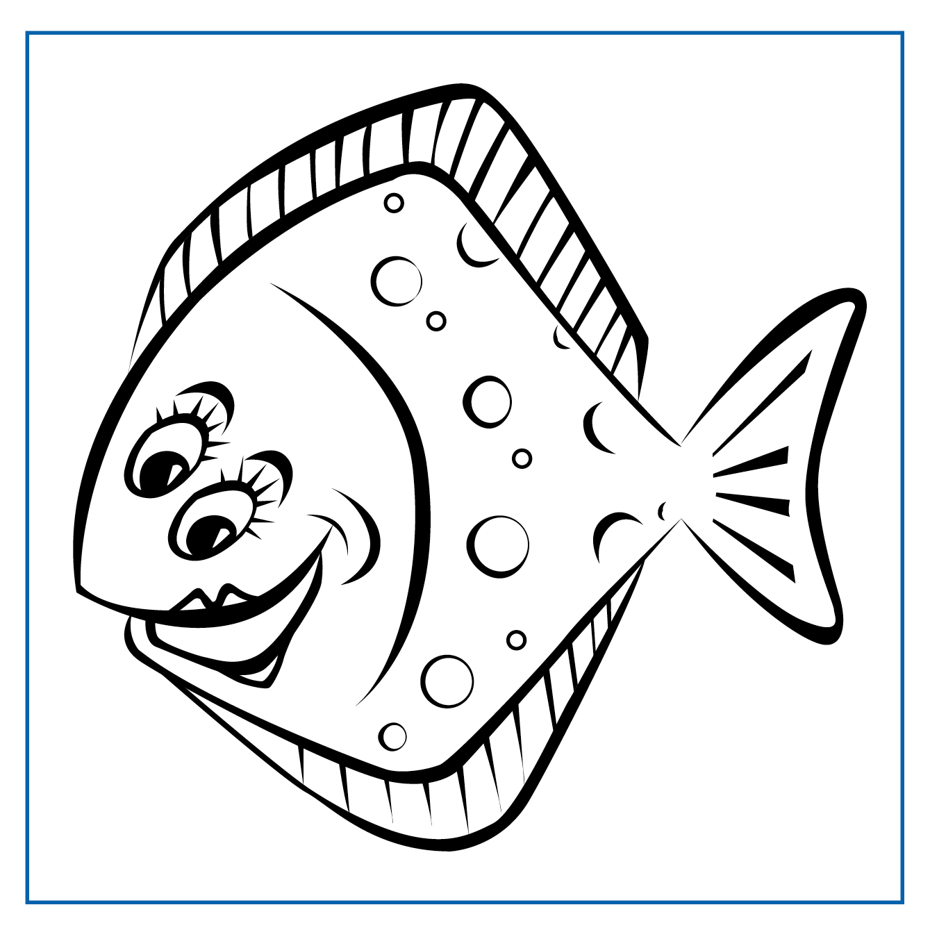 Penny Plaice - Click on my picture to print me out and colour me in