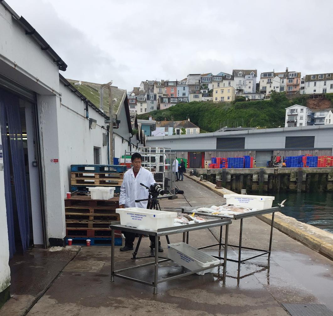 Down at the fish market at 4.30am!