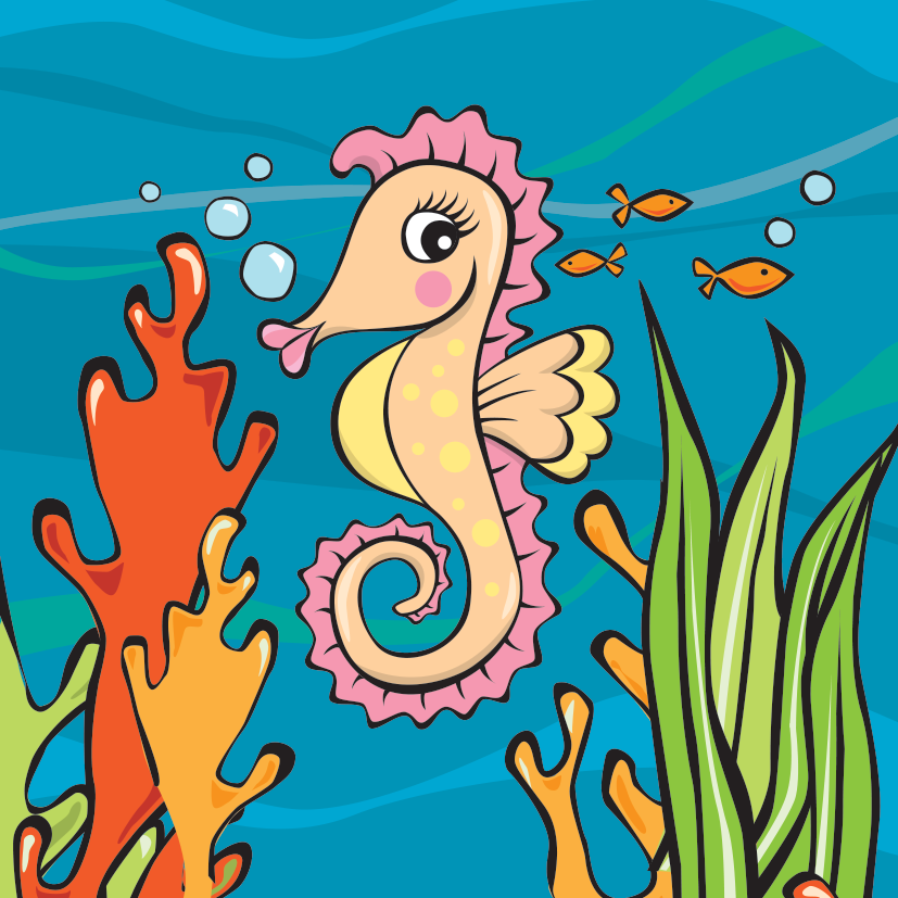 Sophie Seahorse - Habitat: Coral ReefsOrigin: Great Barrier ReefLikes: Dreaming of being fastFact: Seahorses are very slow swimmersFind out more about Sophie Seahorse