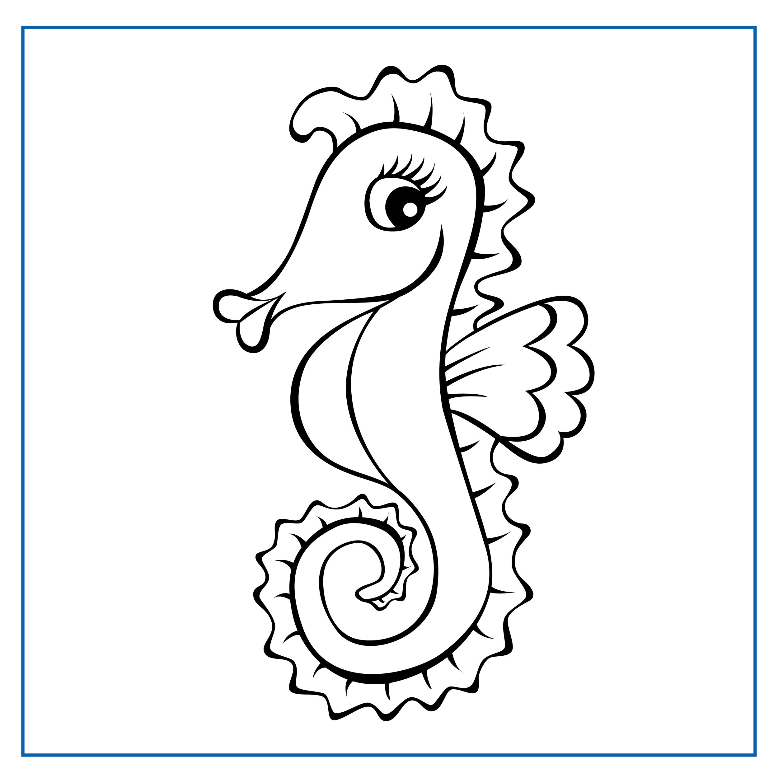 Sophie Seahorse - Click on my picture to print me out and colour me in