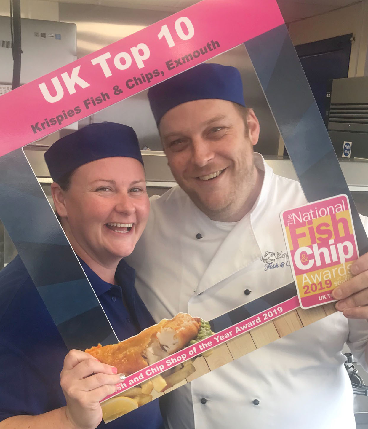 We are delighted to be the Top 10 Fish & Chip shops in the whole of the UK. In January we will find out if we have won the whole thing!