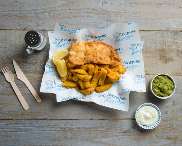 Krispies Fish & Chips will soon be available as Click & Collect and Delivery too.