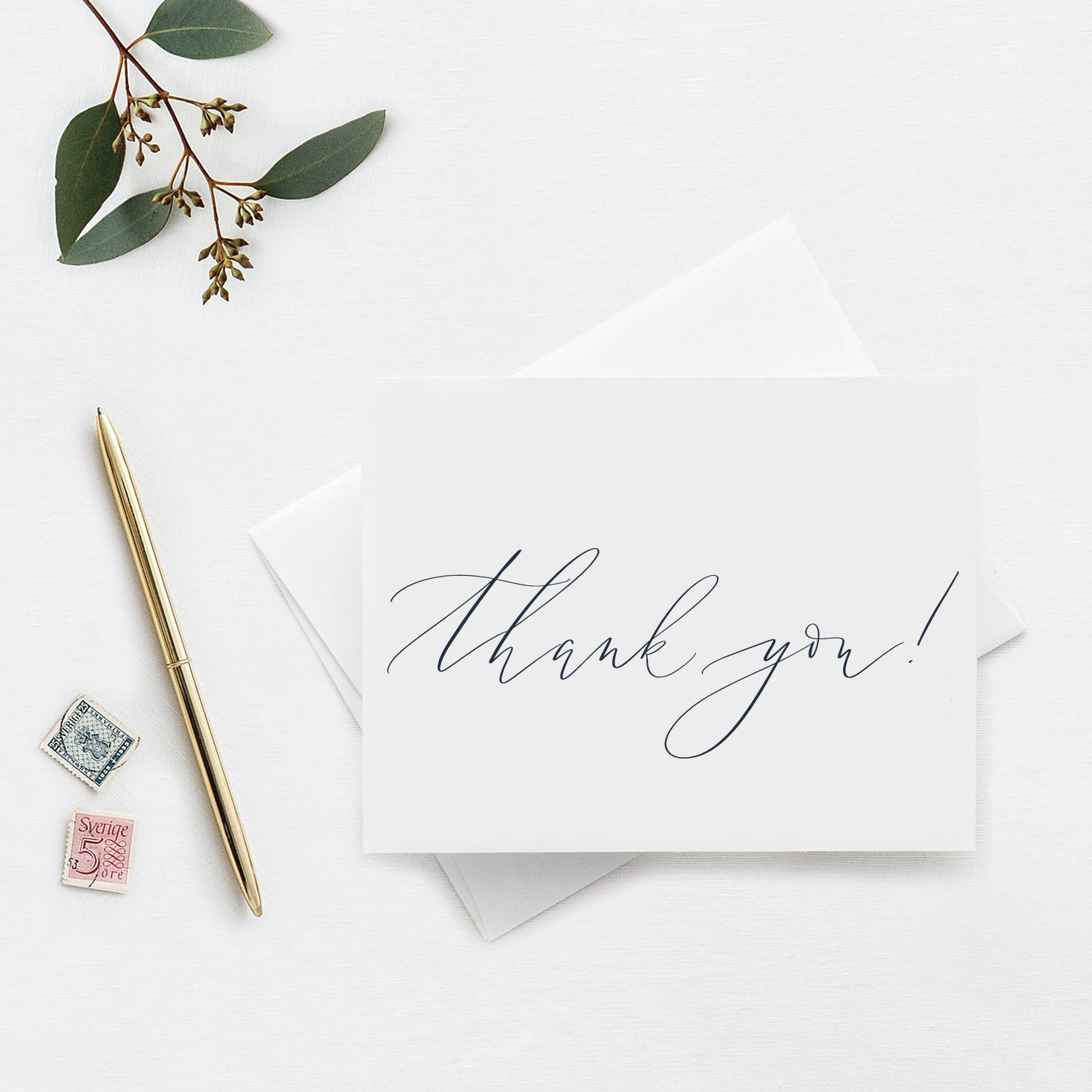 modern calligraphy thank you notes | starting at $17.50