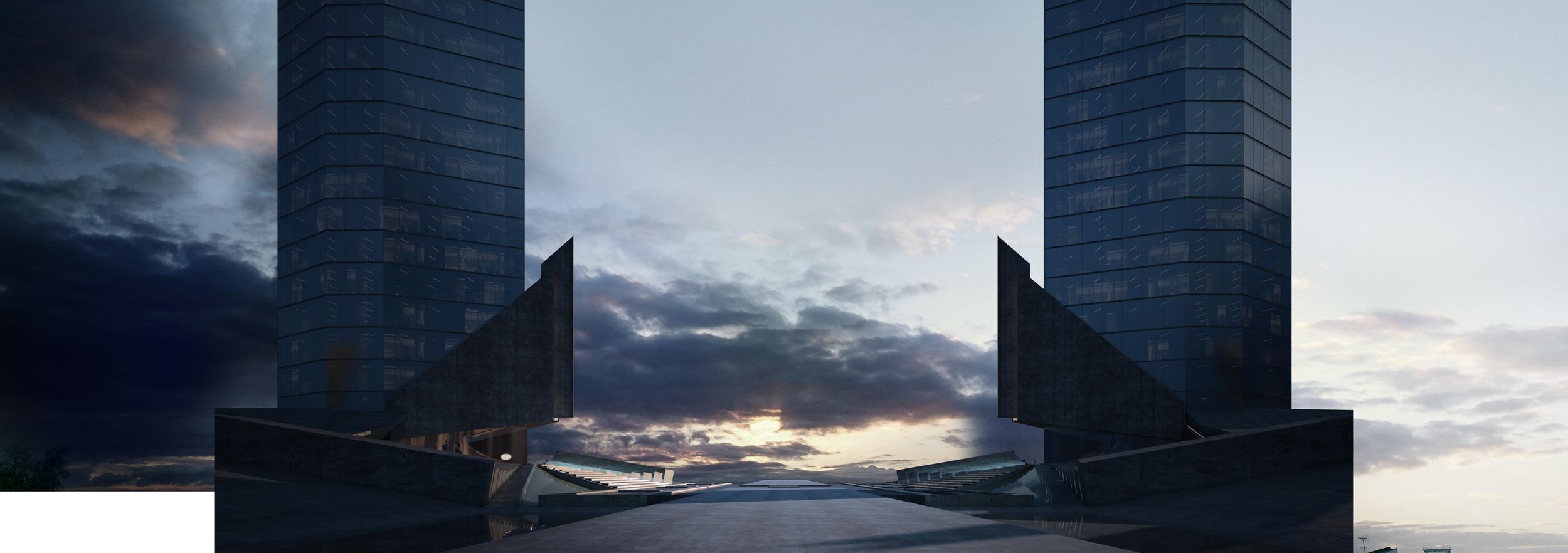 Breakdown - Step 2 - Sky and mood setting