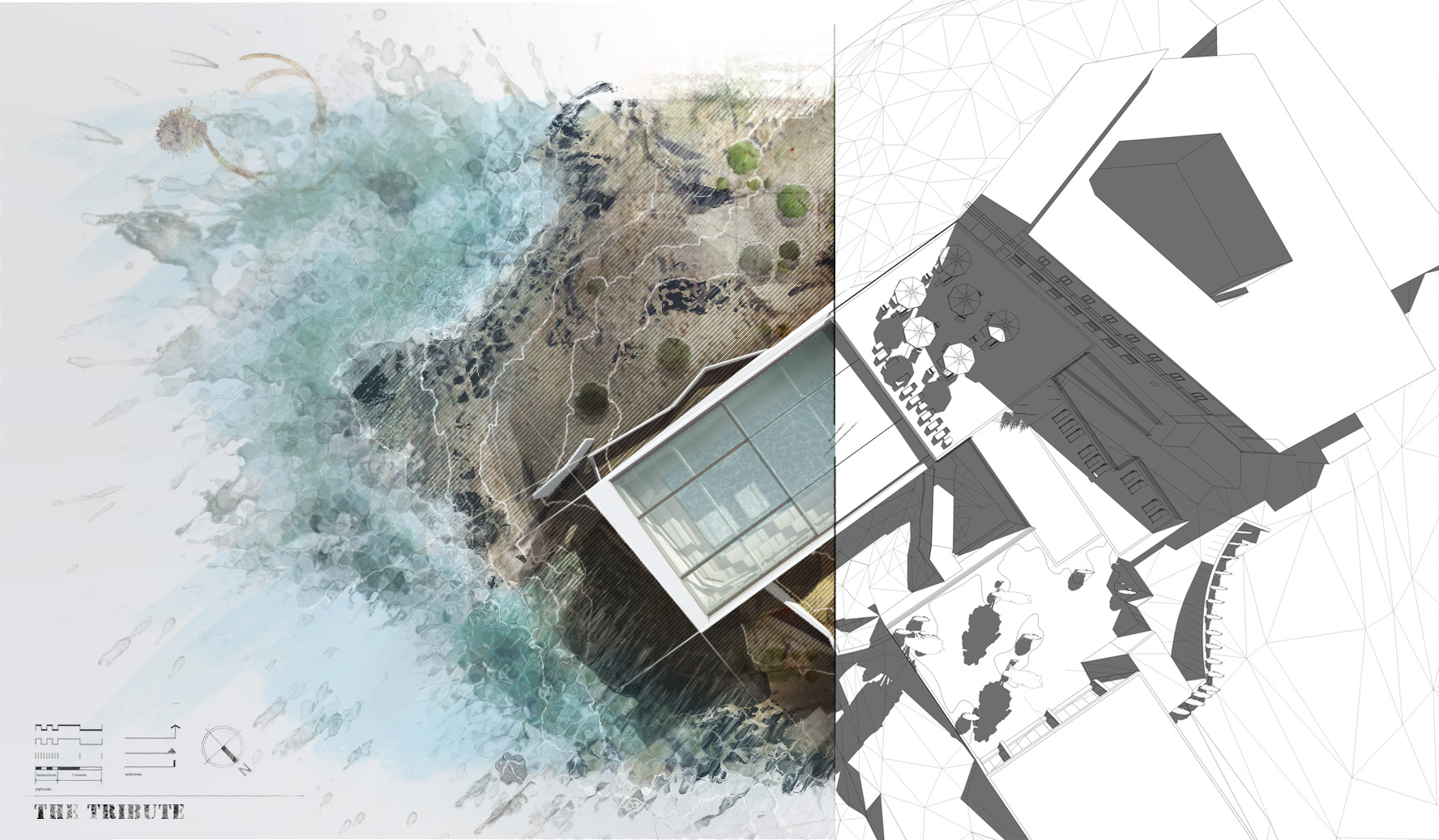 From initial sketchup image to final illustration