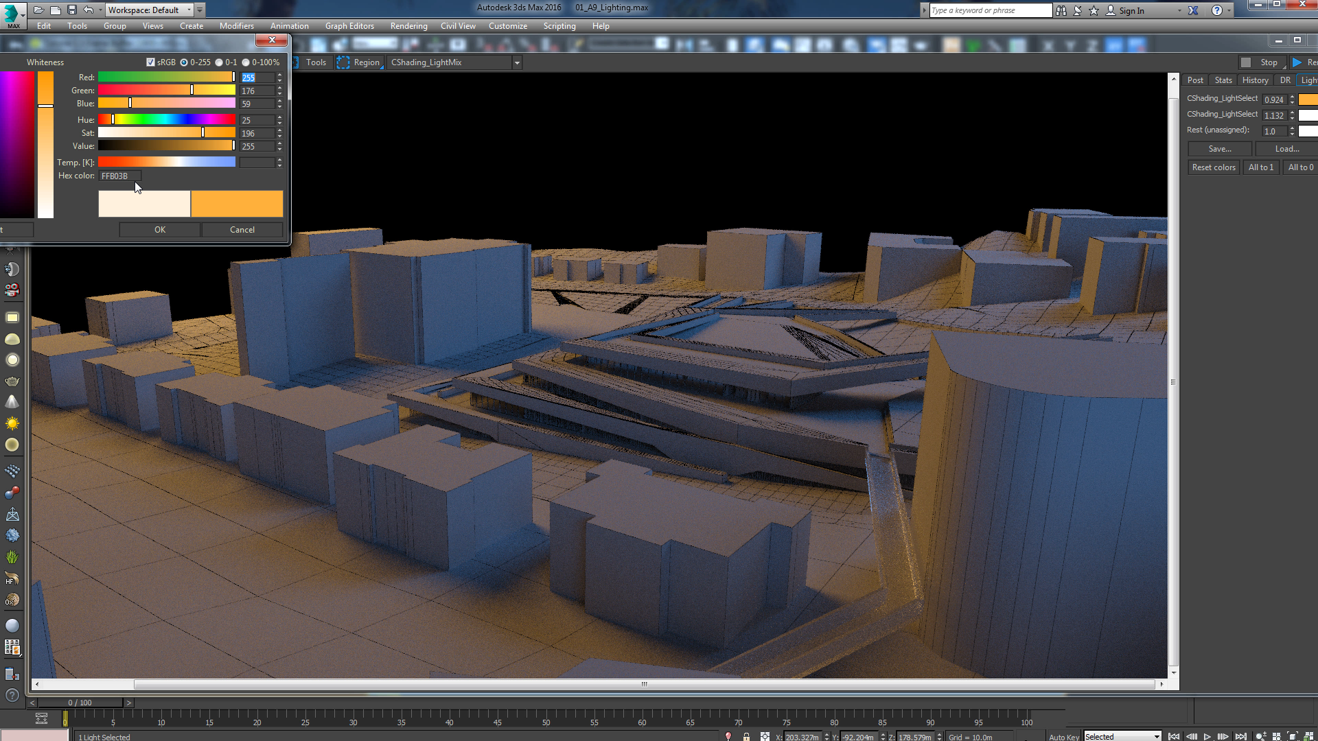 Experimenting in Corona Renderer with the lighmix feature