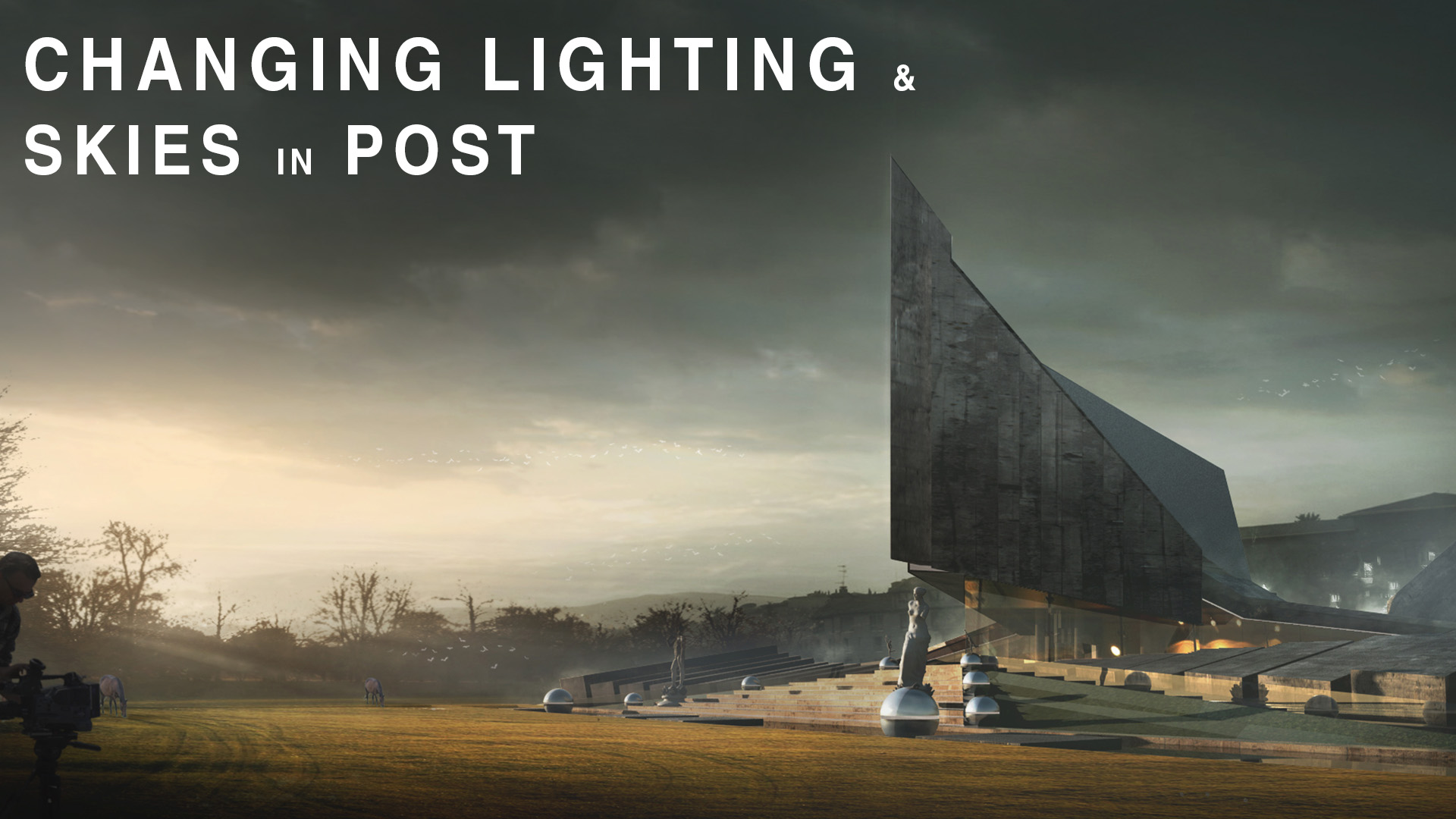 A tutorial showing all the stages into changing lighting and skies in an image. Click on the image to watch the tutorial and see NEW written content!