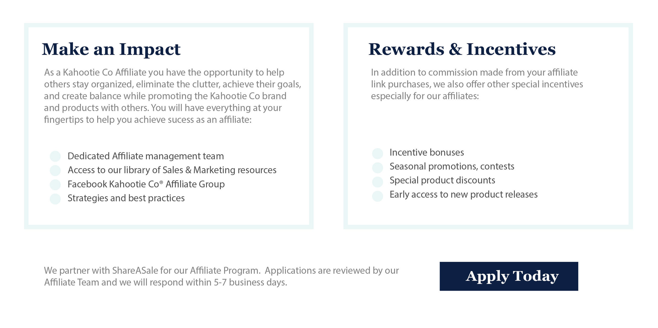 Kahootie Co affiliate program